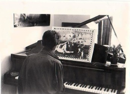 Sian at the piano in the 1990s