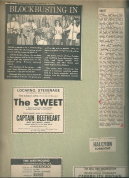 Halcyon press cuttings and reviews from the 1970s