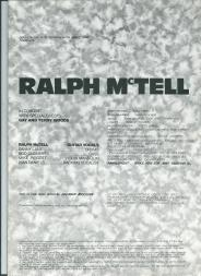 Poster for Ralph McTell's tour featuring Sian on backing vocals