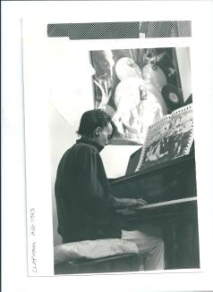 Sian at her piano in Clapham (1983)